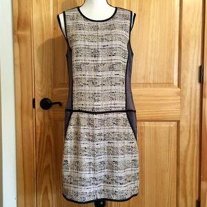 THEORY Tweed and Silk Sleeveless Dress